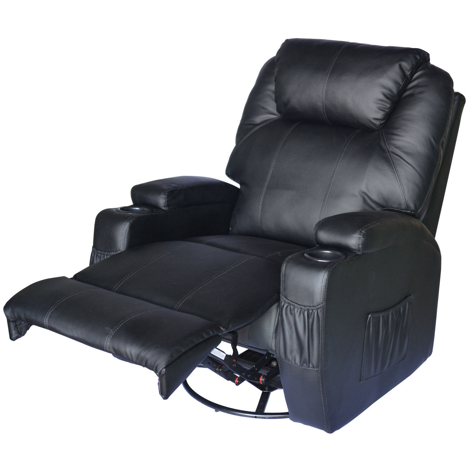 Sofa With Recliner Details About Massage Recliner Sofa Leather Vibrating Heated Chair Lounge Executive W Control