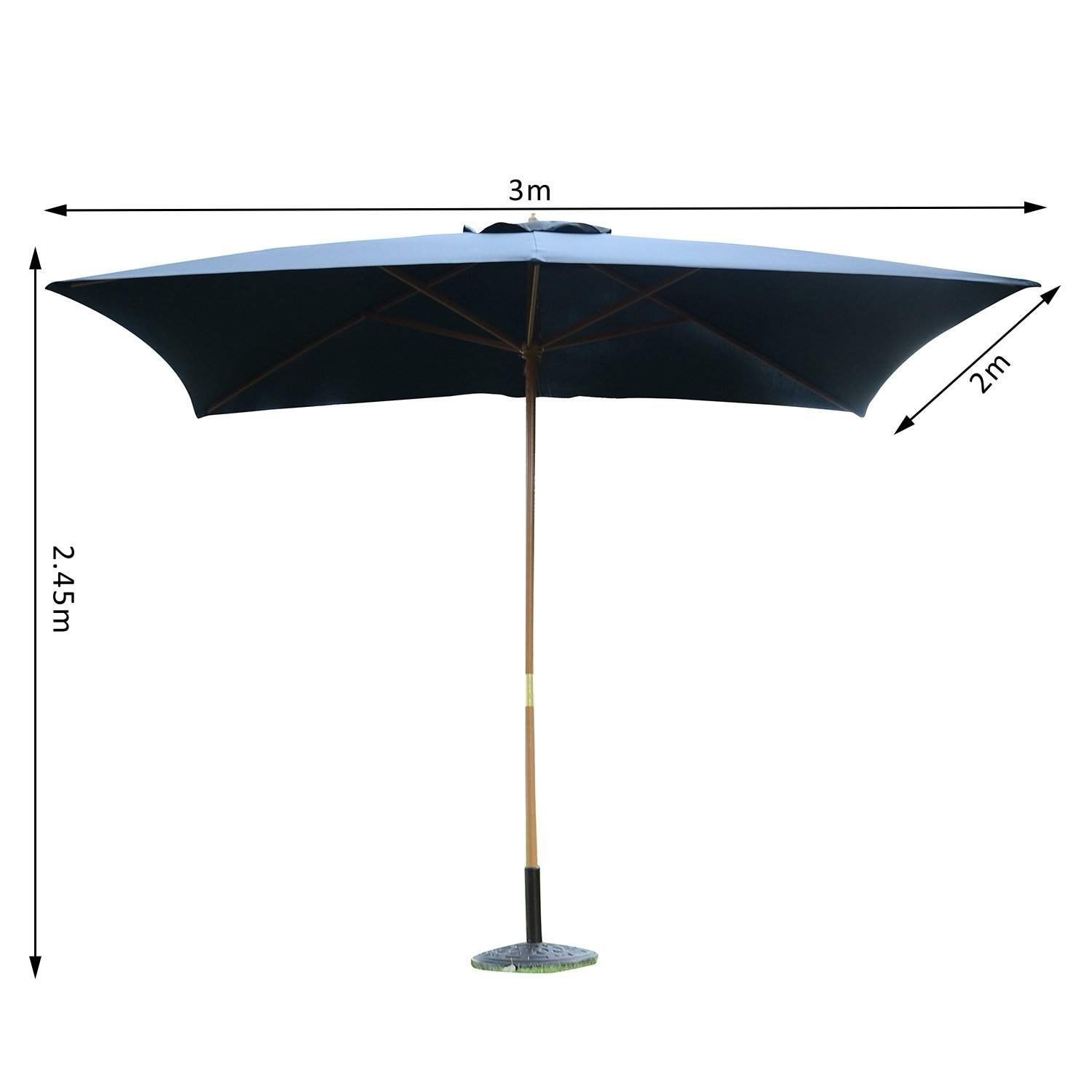Teppiche 2m X 3m 3m X 2m Wood Wooden Garden Parasol Sun Shade Patio Outdoor