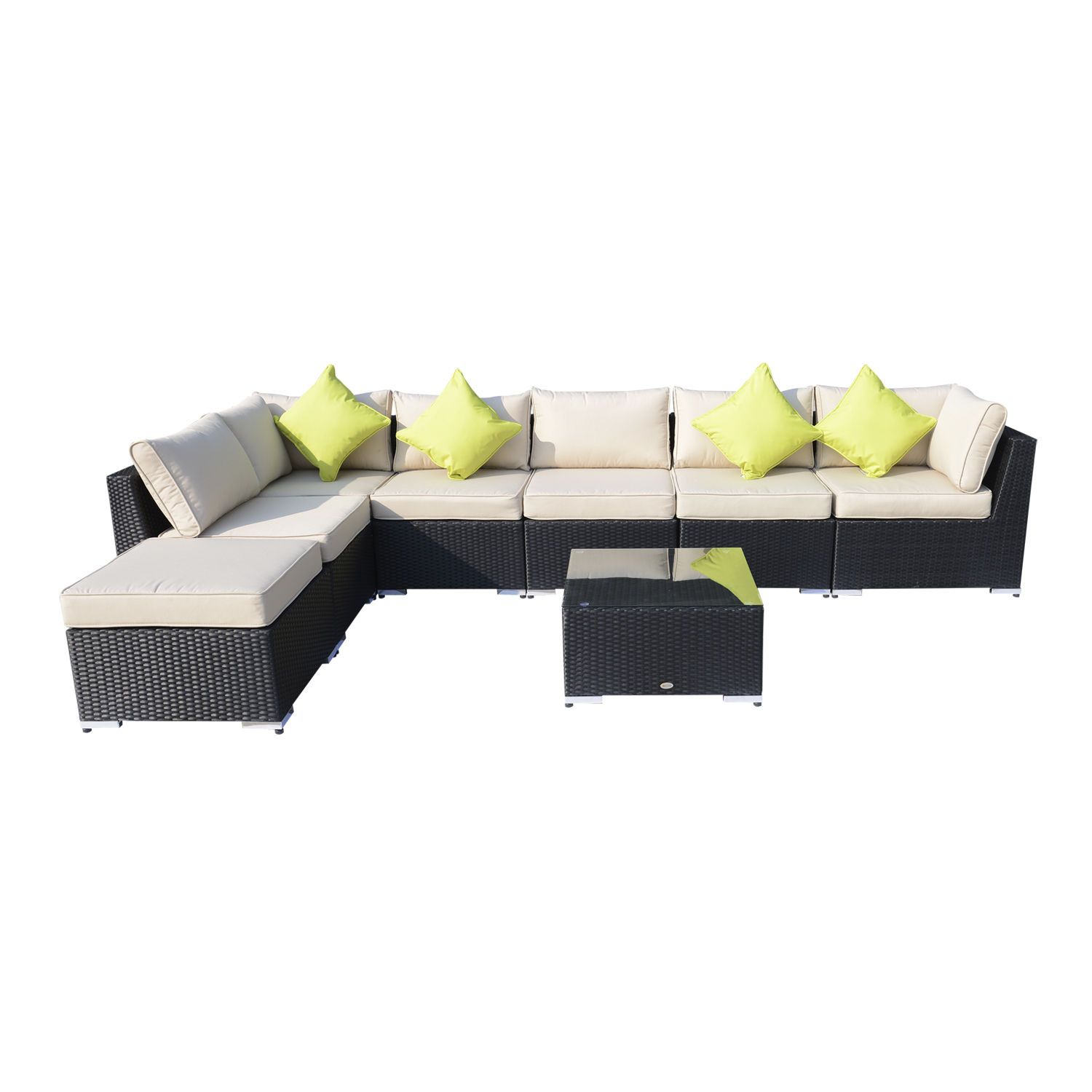 Rattan Corner Sofa Set Ebay Rattan Outdoor Garden Furniture Patio Corner Sofa Set