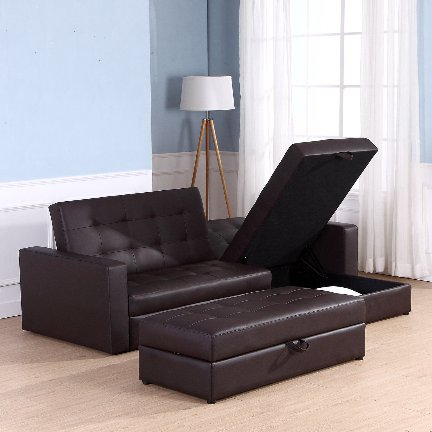 Sofa Bed Storage Sleeper Chaise Loveseat Couch Sectional - Living Room Sofa Bed