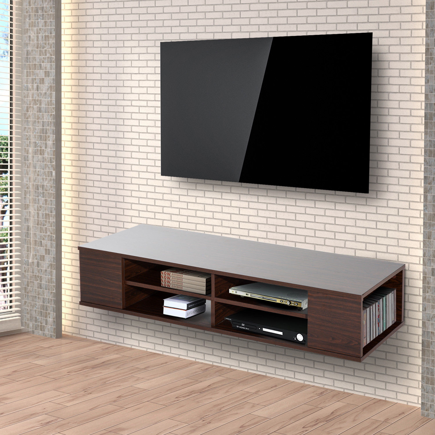 Floating Wall Mounted Tv Unit Modern 47 Floating Wall Mounted Tv Stand Unit Cabinet