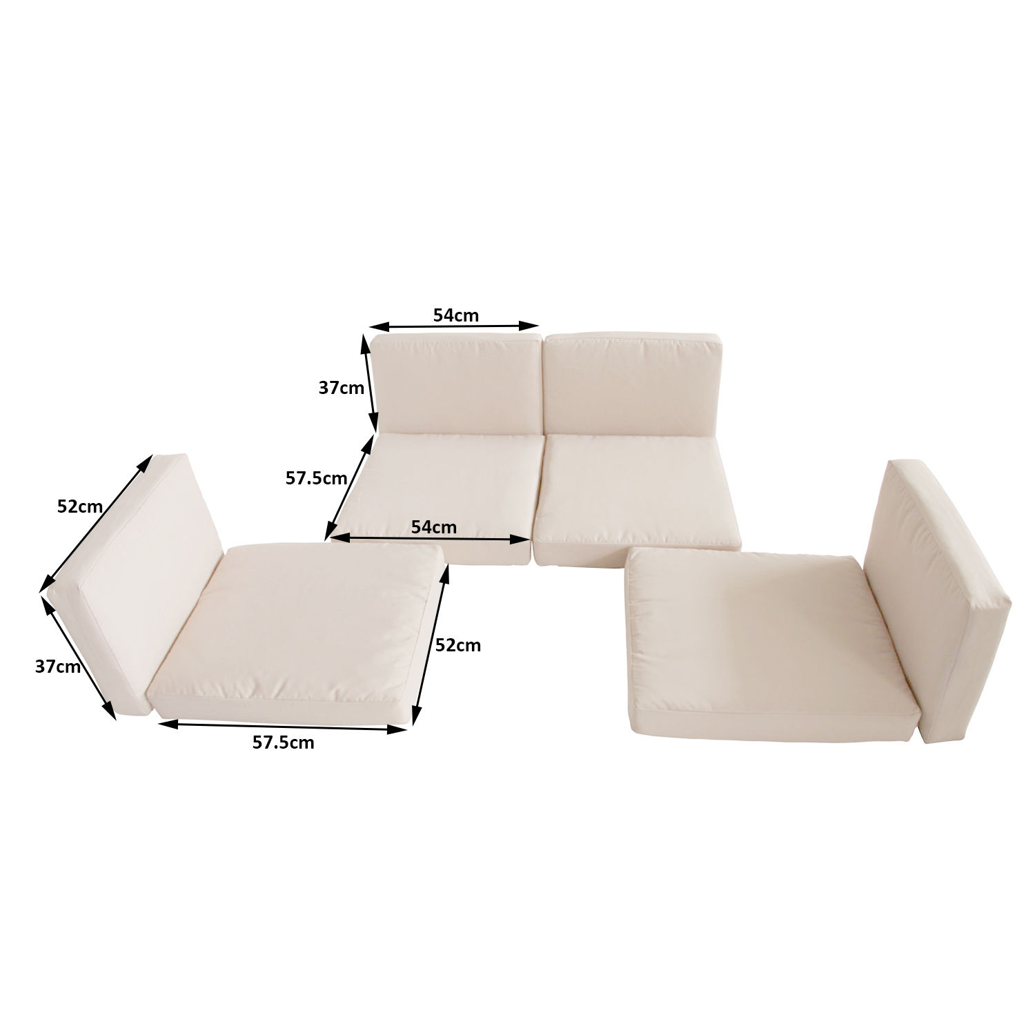 Rattan Corner Sofa Replacement Cushions Details About Outsunny 8pc Home Sofa Cushion Cover Replacement For Rattan Garden Furniture