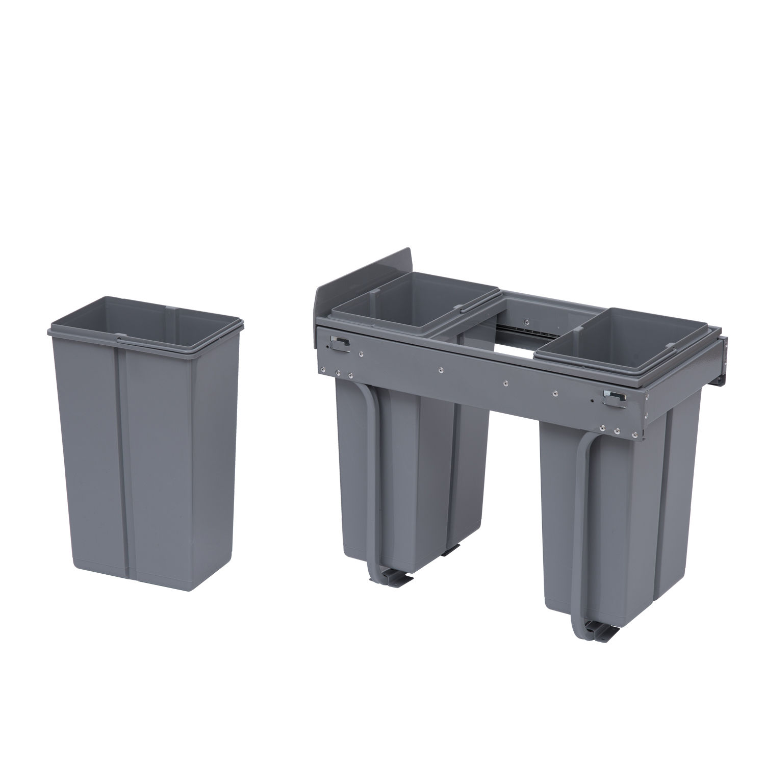 Kitchen Cabinet Trash Bin Recycle Waste Bin 30 40l Sorter Recycling Pull Out And Soft