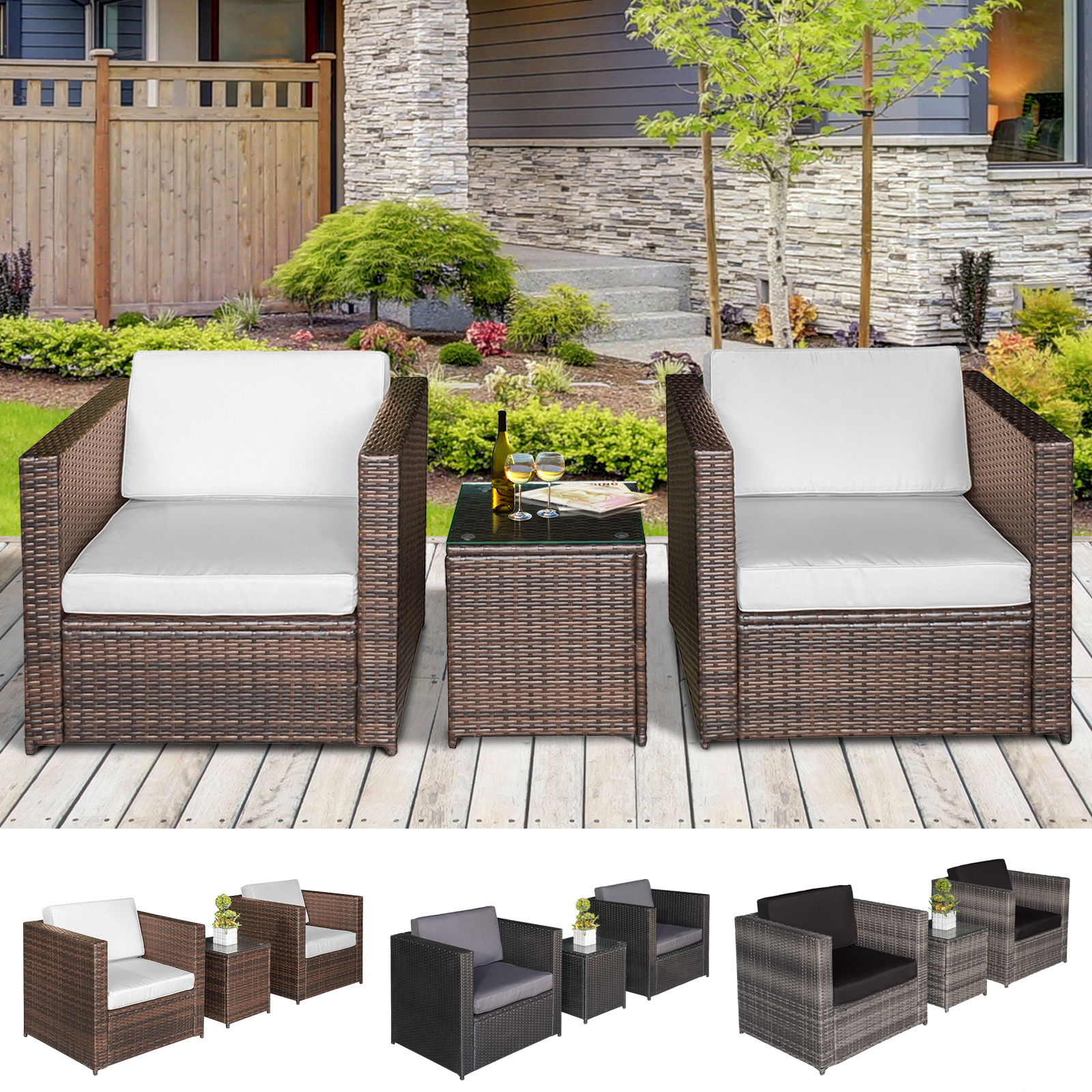 Garden Sofa Two Seater Details About 3pcs Patio 2 Seater Rattan Sofa Garden Furniture Set Table W Cushions