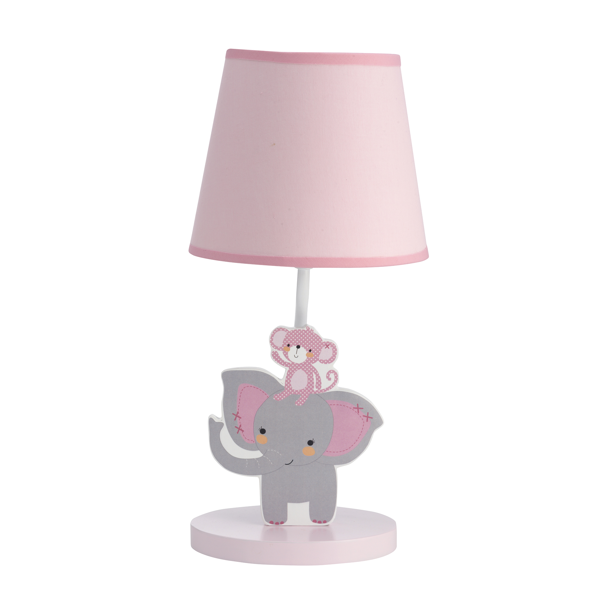 Animal Lamp For Nursery Details About Bedtime Originals Twinkle Toes Lamp With Shade Bulb Pink Gray Animals