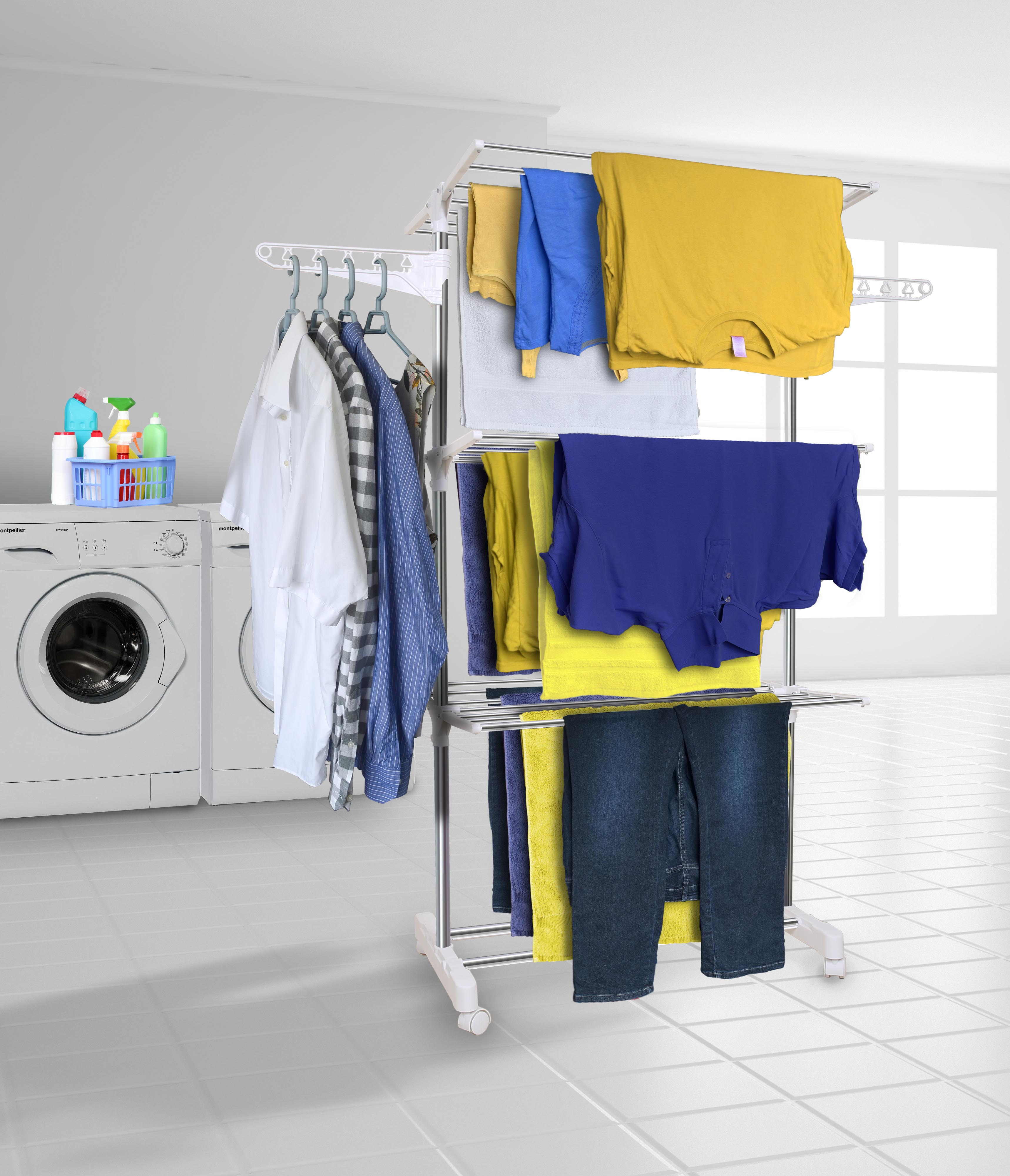 Small Clothes Dryer Clothes Airer Drying Rack Extra Large 3 Tier Clothes