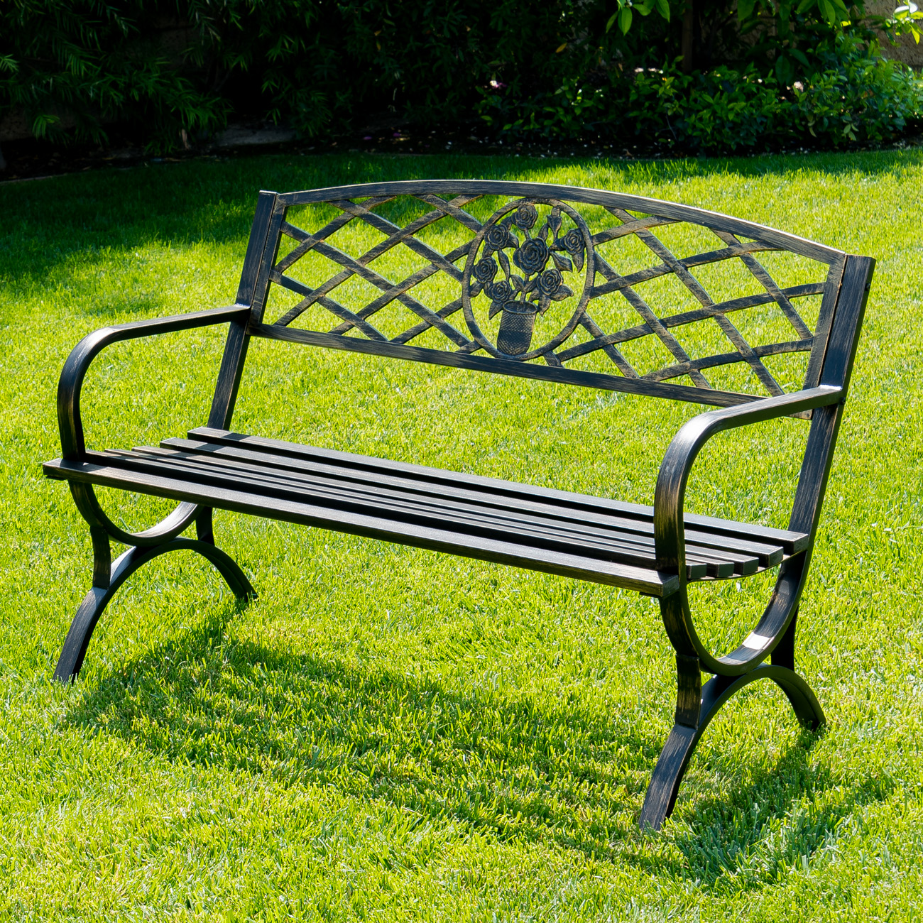 Wooden Park Benches Front Outdoor Bench Patio Chair Metal Garden Furniture Deck
