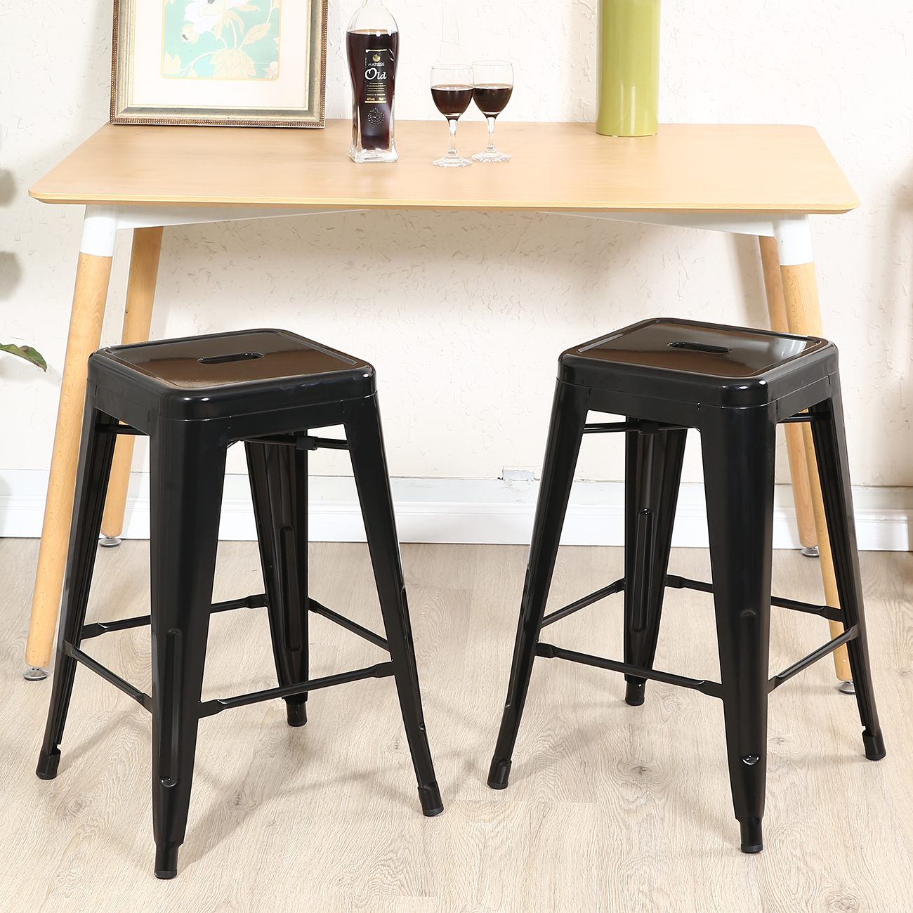 Bar And Stools For Home Set Of 2 Metal Bar Stool Counter Height Home 24 Quot 26 Quot 30