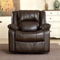 NEW Recliner and Rocking Swivel Chair Leather Seat Living ...