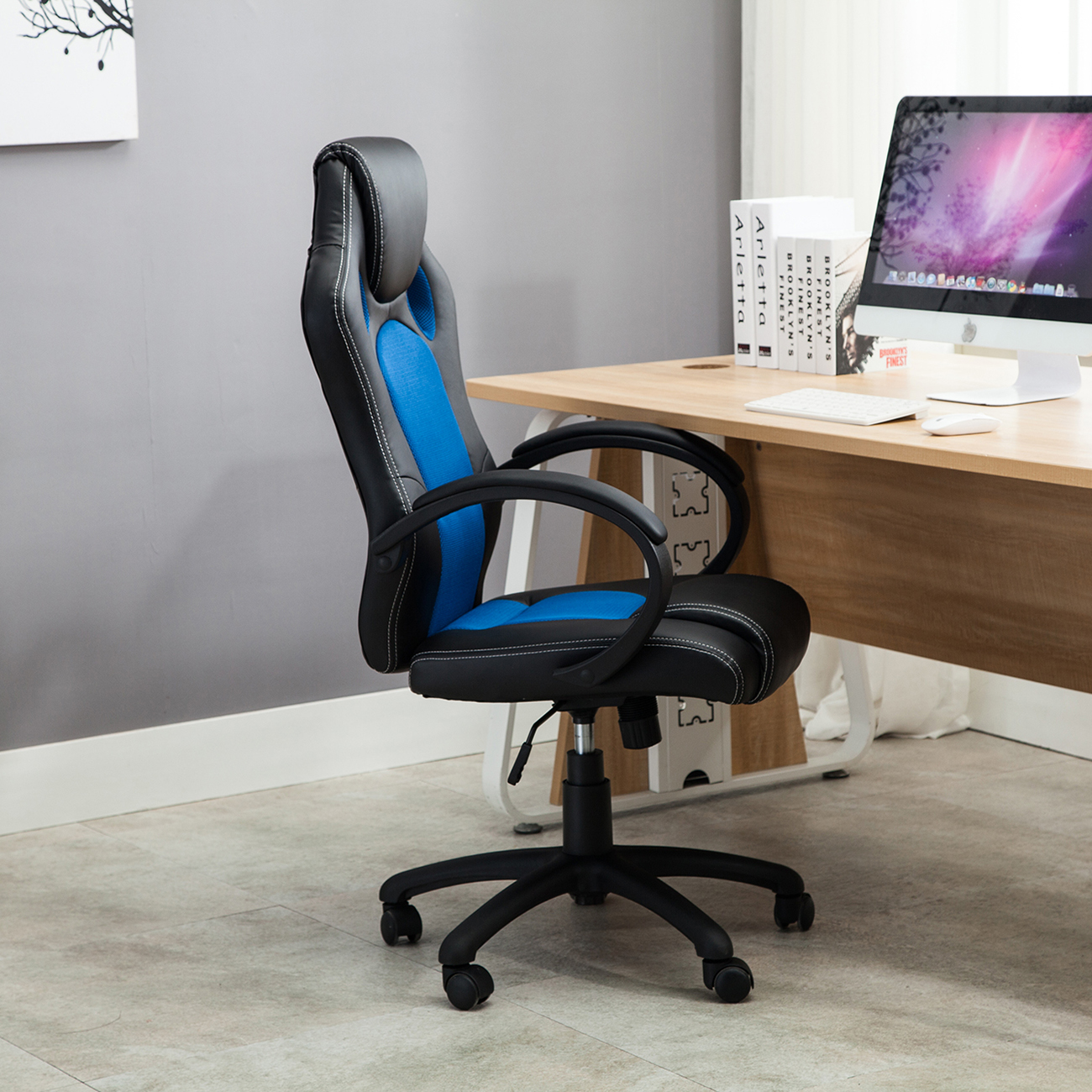 Desk Seat Details About High Back Race Car Style Bucket Seat Office Desk Chair Gaming Computer Chair New