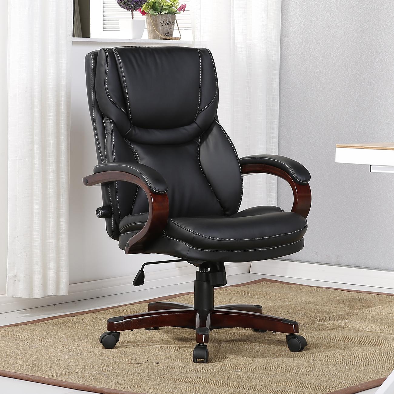 Executive Chair High Back Office Desk Arm Lumbar Support