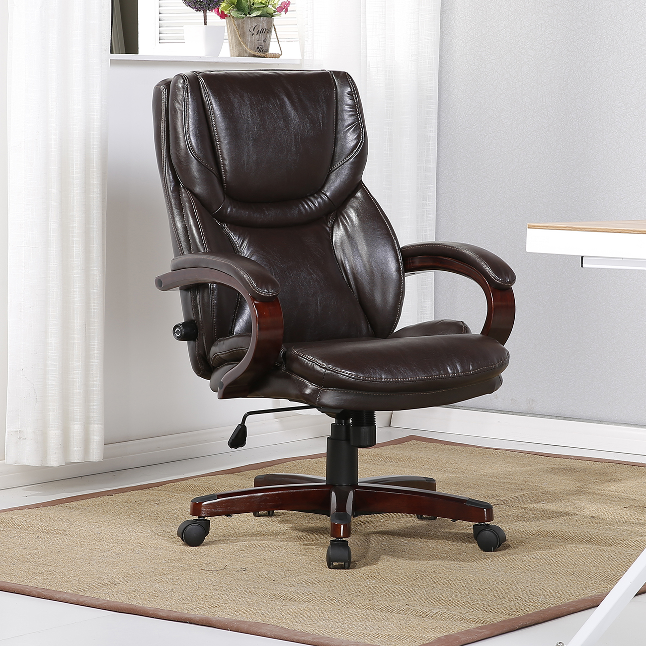 High Back Desk Chair Executive Chair High Back Office Desk Arm Lumbar Support
