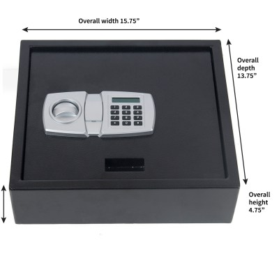 Digital LCD Lock Electronic Keypad Top-Opening Safe Security Box Cash Drawer | eBay