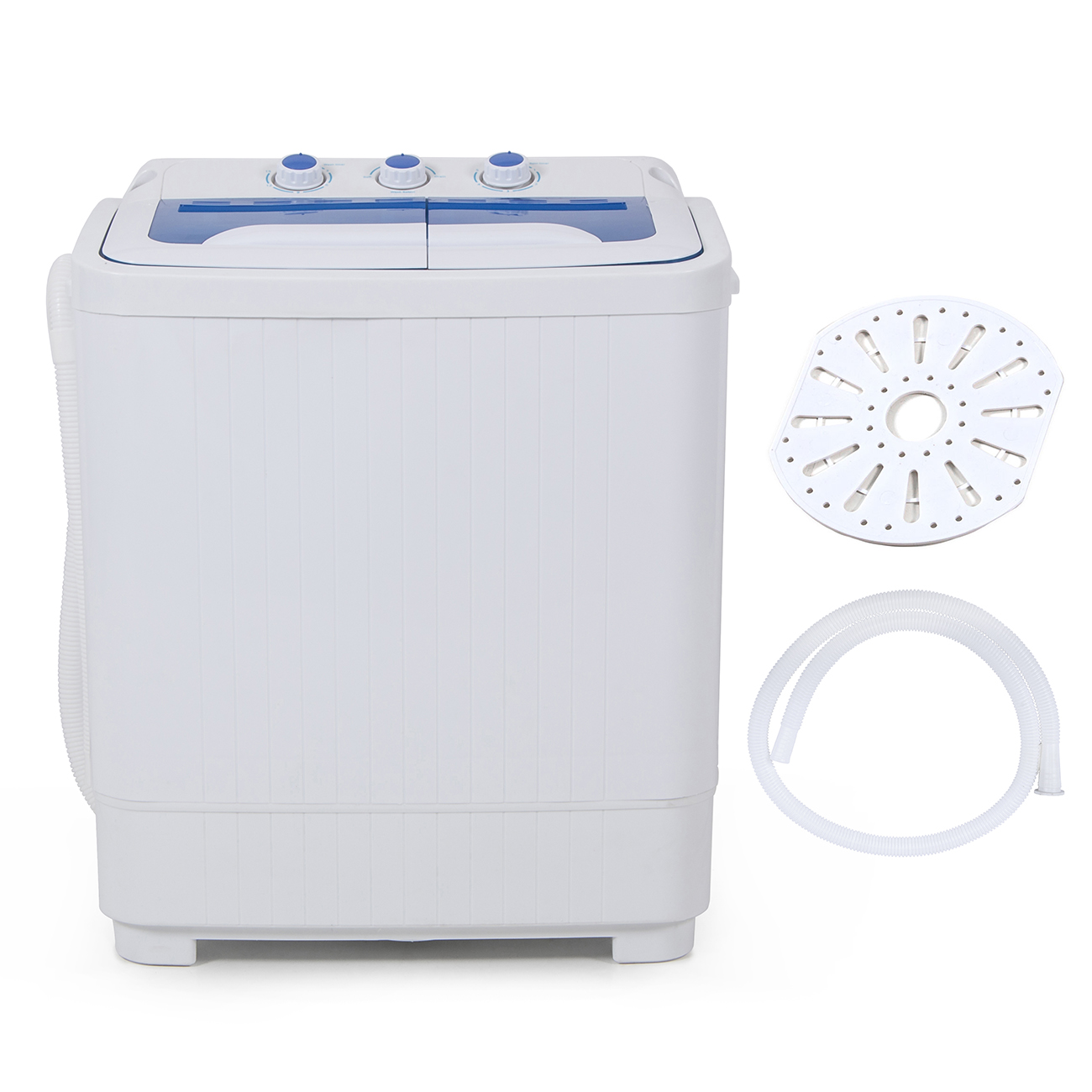 Small Clothes Dryer Portable Mini Rv Dorms Compact Dual Timer Washing Machines