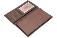 Genuine Leather Checkbook Wallet Men Women Removable ...