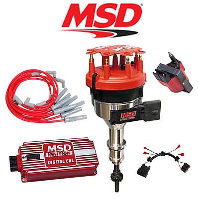 MSD Ignition Kit - Digital 6AL/Distributor/Wires/Coil/Harness 86-93