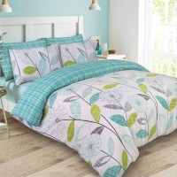 Polycotton Duvet Cover With Pillow Case Bedding Set Single ...