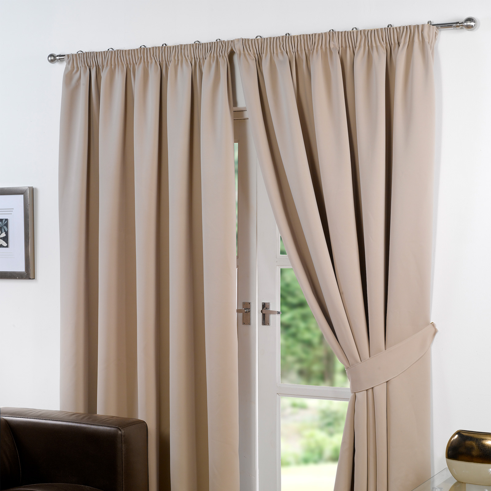 Ready Made Thermal Curtains Details About Dreamscene Pencil Pleat Blackout Curtains Pair Of Ready Made Thermal Tape Top