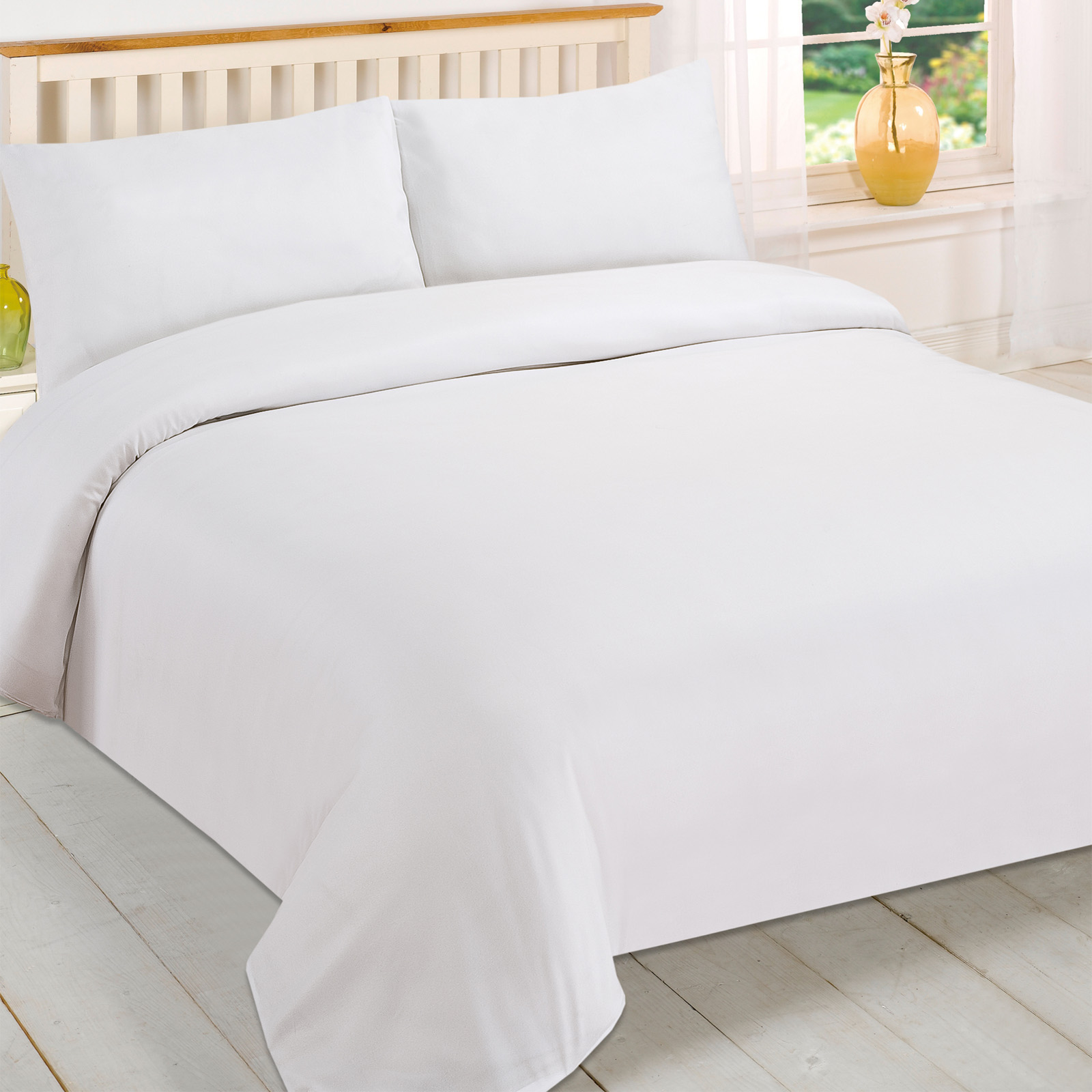 White Duvet Cover King Brentfords Plain White Duvet Cover And Pillowcase Bedding