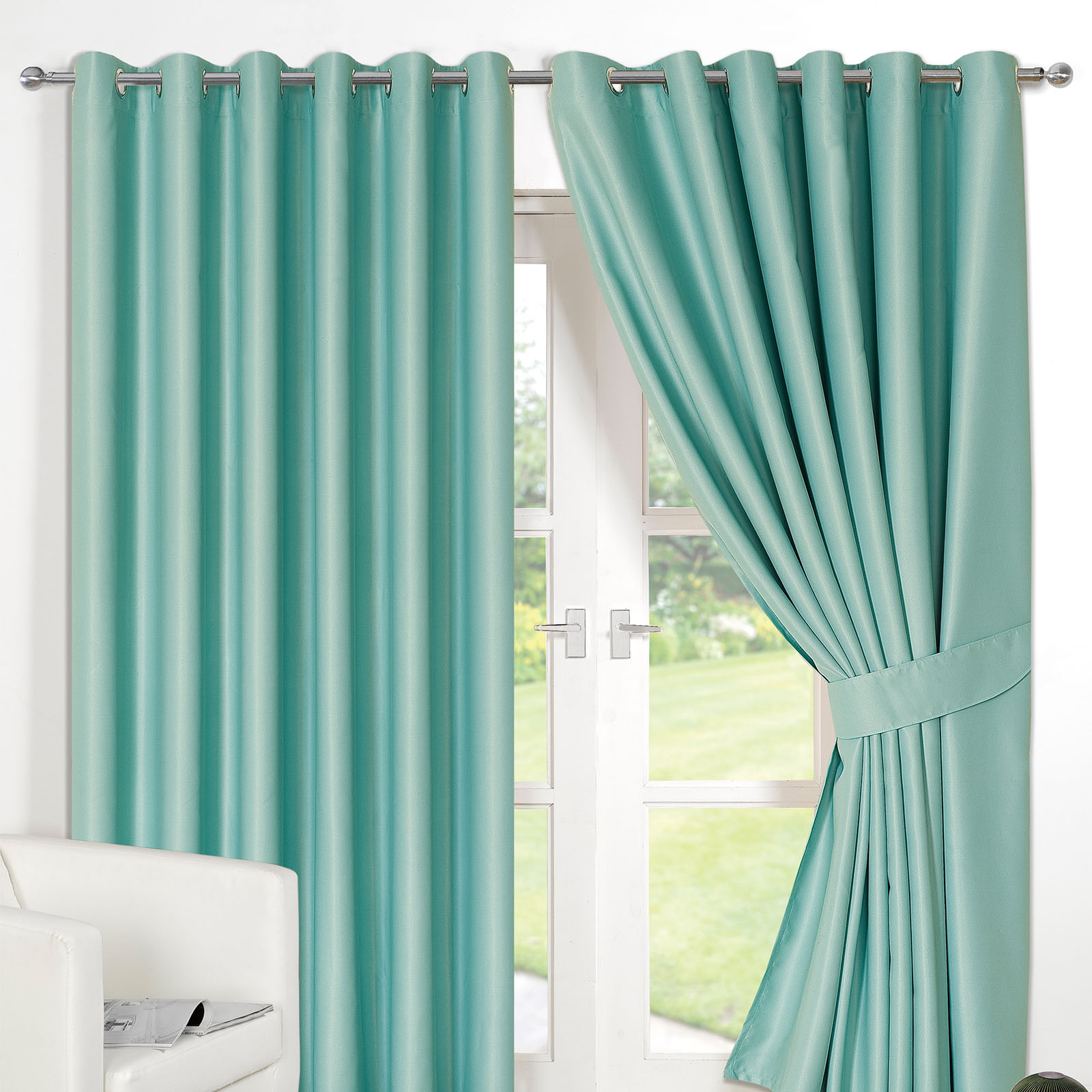 Ready Made Curtains 108 Drop Details About Ring Top Fully Lined Pair Eyelet Ready Made Curtains Luxury Thermal Blackout