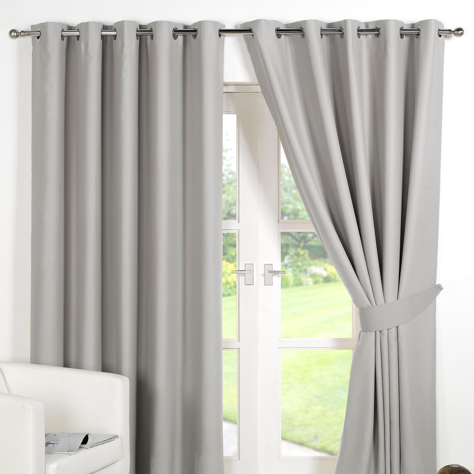 Ready Made Thermal Curtains Details About Ring Top Fully Lined Pair Eyelet Ready Made Curtains Luxury Thermal Blackout