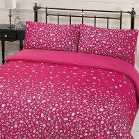 Glitz Gem Print Quilt Duvet Cover With Pillowcases Bedding ...