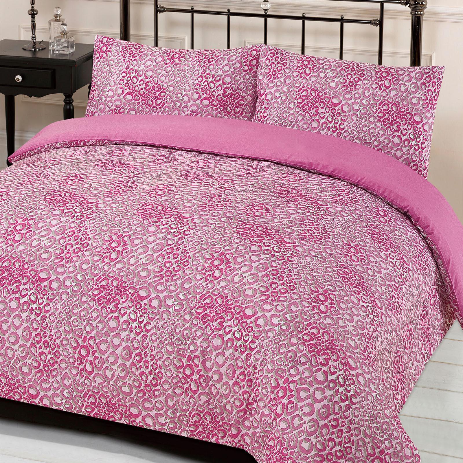 Leopard Print Quilt Cover With Pillowcase Duvet Bedding