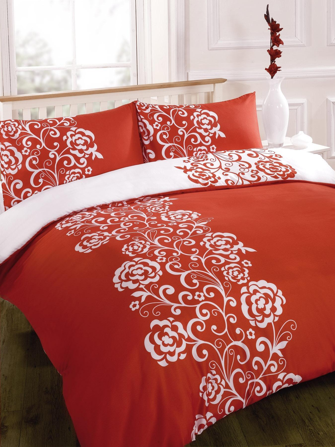 White Single Quilt Cover Duvet Quilt Cover Bedding Set Red Single Double King