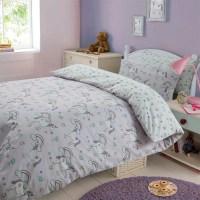 Magical Unicorns Duvet Cover Pillow Case Bedding Set Girls