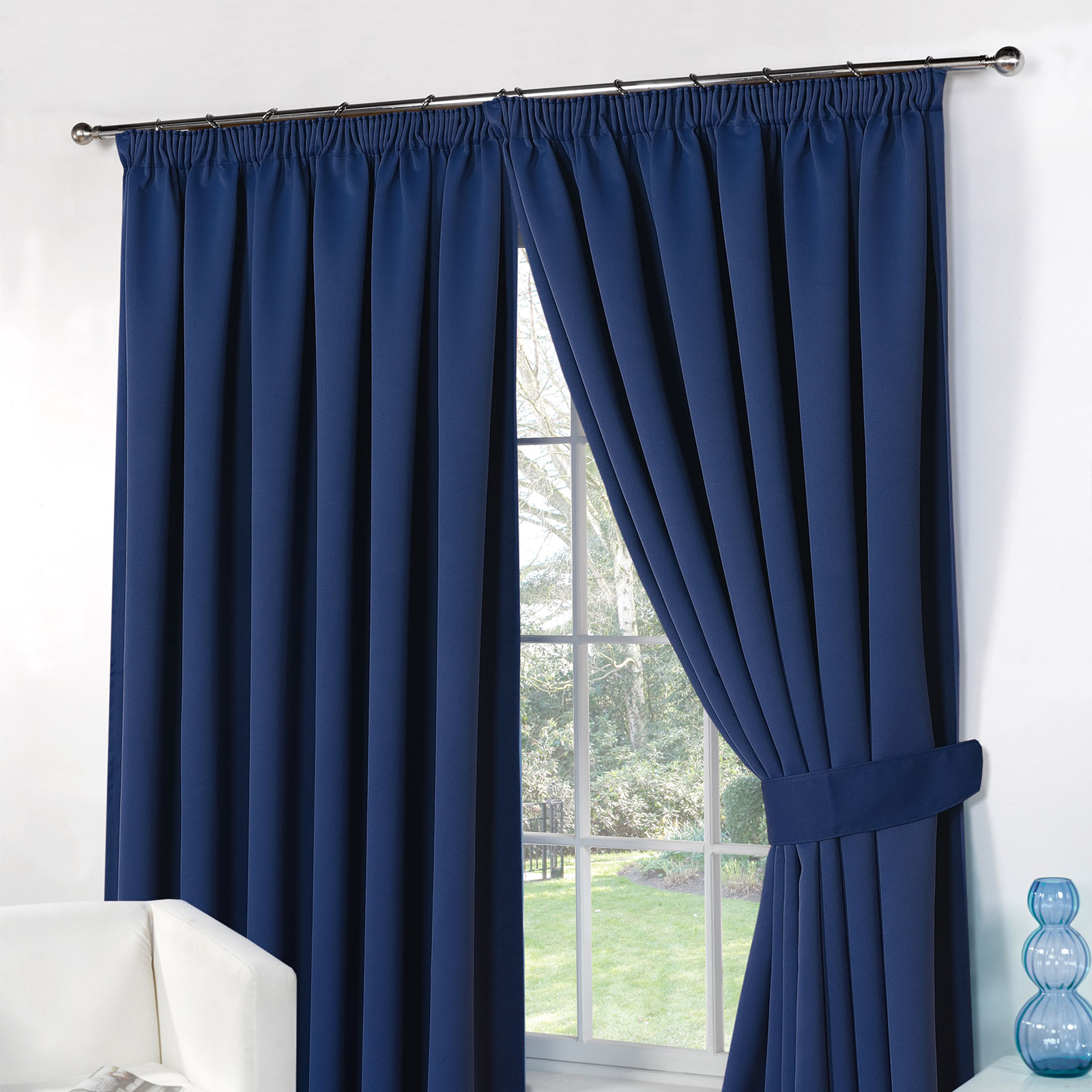 Diy Blinds Online Thermal Pencil Pleat Blackout Pair Curtains Ready Made
