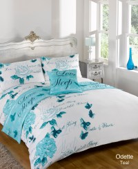 Duvet Quilt Bedding Bed In A Bag Teal Single Double King ...