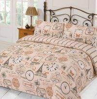 Duvet Cover with Pillowcase Parisienne Eiffel Tower Stripe