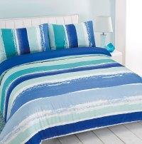Duvet Cover with Pillowcase Portobello Stripe Blue Green ...