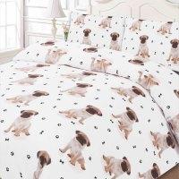 Pug Duvet Cover With Pillow Case Bedding Set Double Size ...