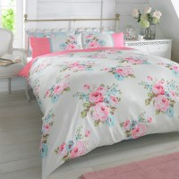 Duvet Quilt Cover with Pillowcase Bedding Set Floral Rosie ...