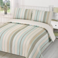 Duvet Quilt Cover with Pillowcase Bedding Set Tenby Stripe ...