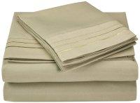 Soft Microfiber Embroidered Bed Sheet Set, Duvet Cover Set ...
