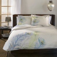 Decorative Embroidered Peacock Feather Duvet Set | eBay