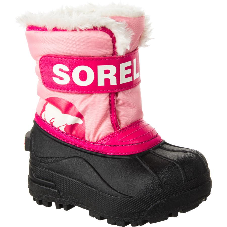 Sorel Kids Snow Commander Winter Boot Pink Black