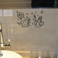 New Toothbrush Bathroom Toilet Waterproof Removable Vinyl ...