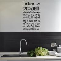 COFFEE COFFEEOLOGY KITCHEN Wall Art Sticker Quote Decal ...