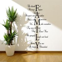 FAMILY LOVE LIFE Wall Art Sticker Quote Room Decal Mural ...