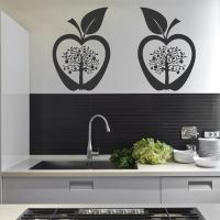 Kitchen Apple Tree Flower Modern Wall Art Sticker Decal ...