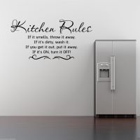 KITCHEN RULES Wall Art Sticker Kitchen Quote Decal Mural ...