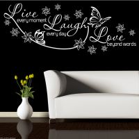 LIVE LAUGH LOVE Wall Art Sticker Lounge Room Quote Decal ...