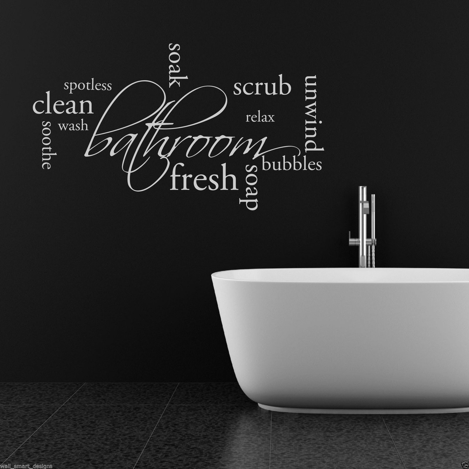 Relax soap bathroom wall art sticker quote decal