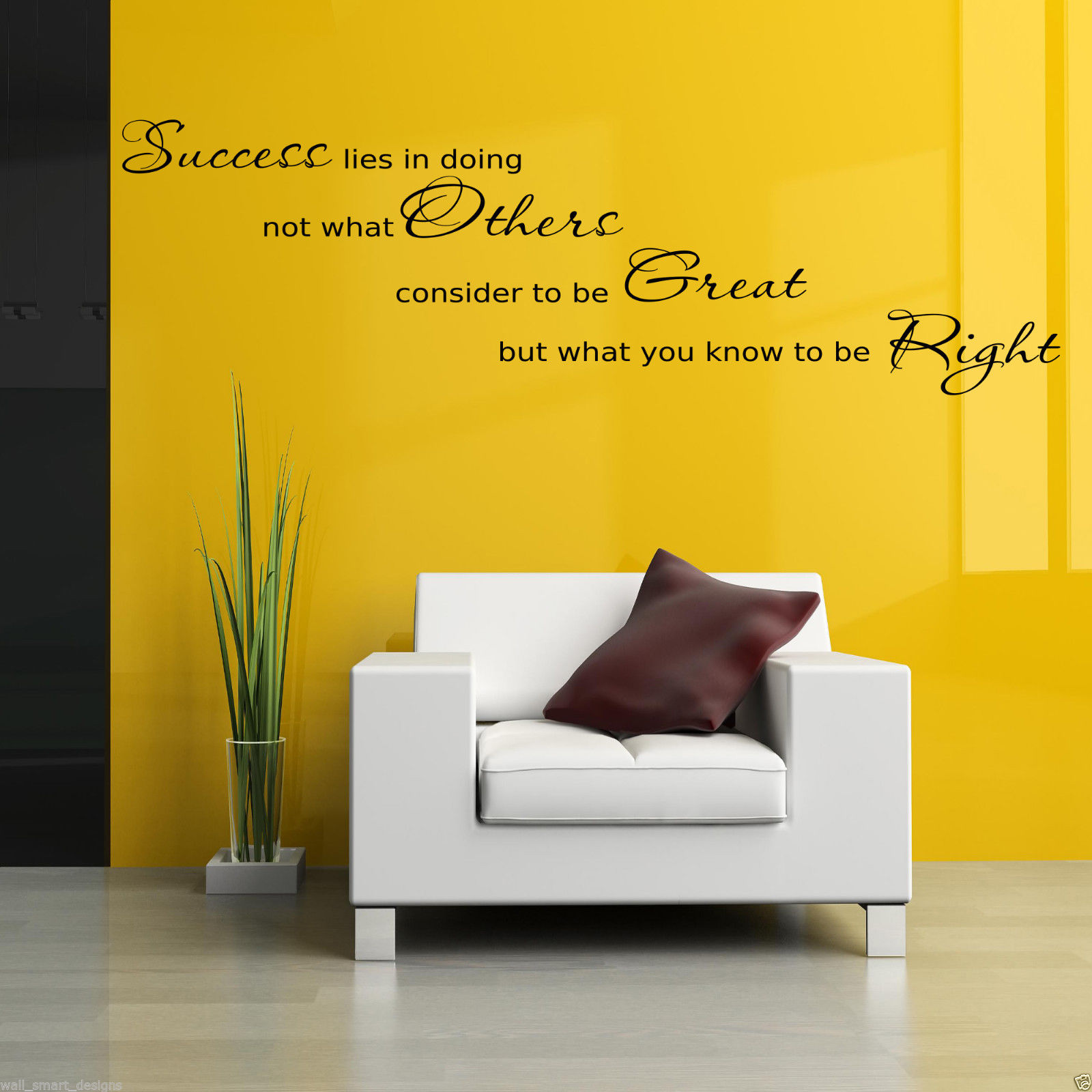 SUCCESS OFFICE Wall Art Sticker Hall Lounge Quote Decal