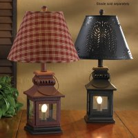 "Country Lantern Lamp in Red or Black 20"" Tall by Park Designs"