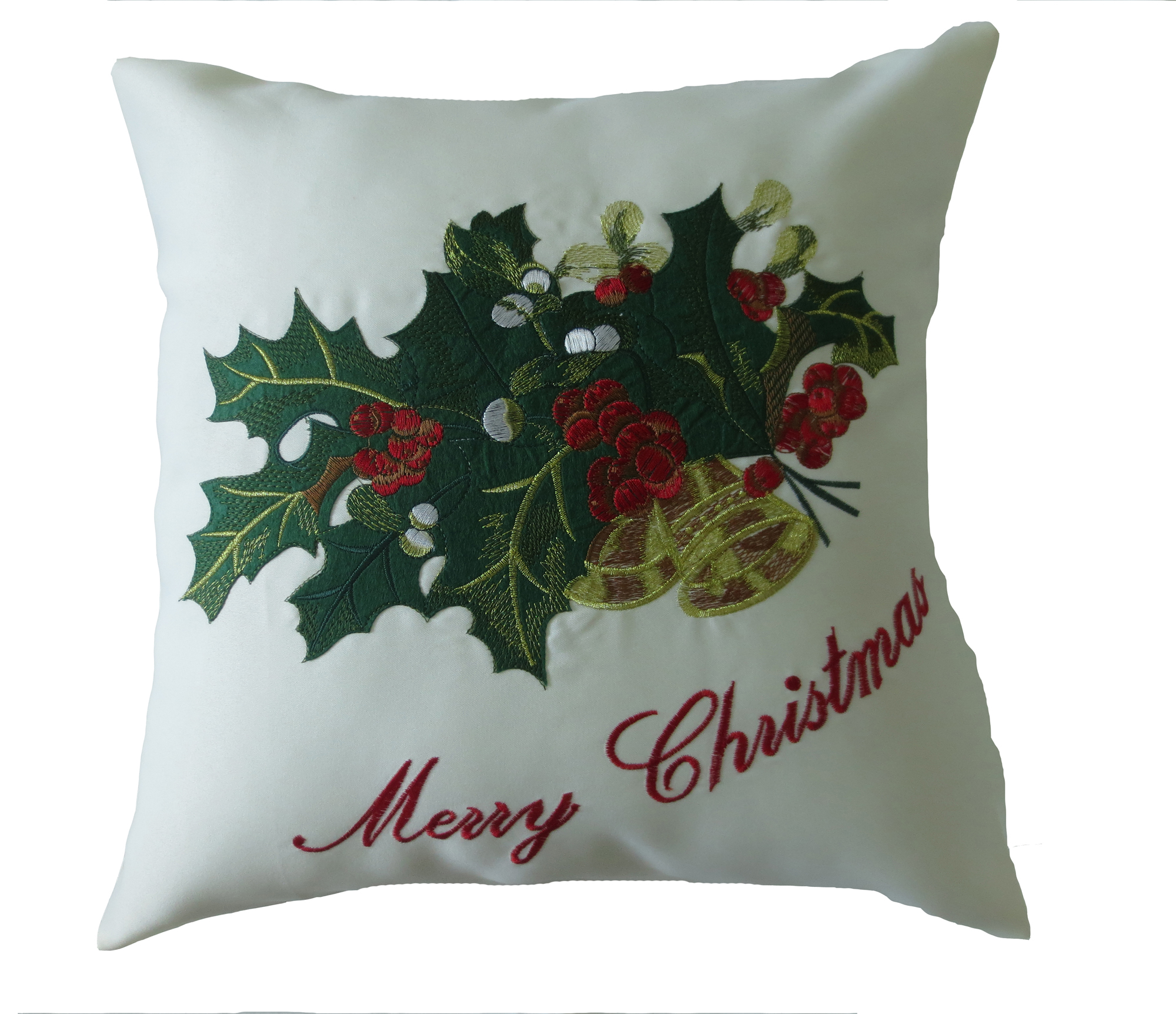 Cushion Covers Christmas Decorative Cushion Cover Embroidered Merry Christmas With