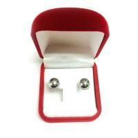 14K White Gold Ball Stud Earrings   eBay
